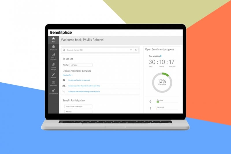 Benefits administrator role dashboard